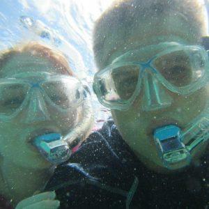 Brian and Brianna snorkeling